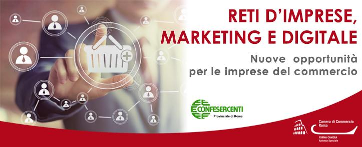 Reti d'imprese, marketing e digitale – Nuove opportunità per le imprese del commercio