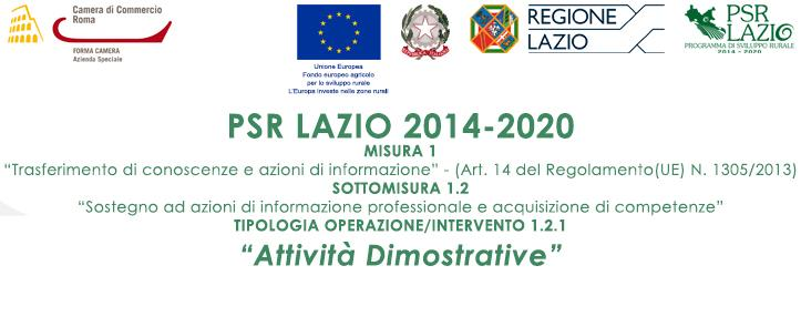 PSR2014-2020 – Attività Dimostrative