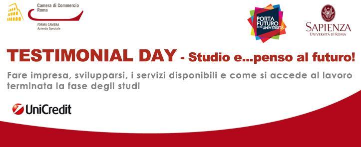 TESTIMONIAL DAY – Studio e…penso al futuro!