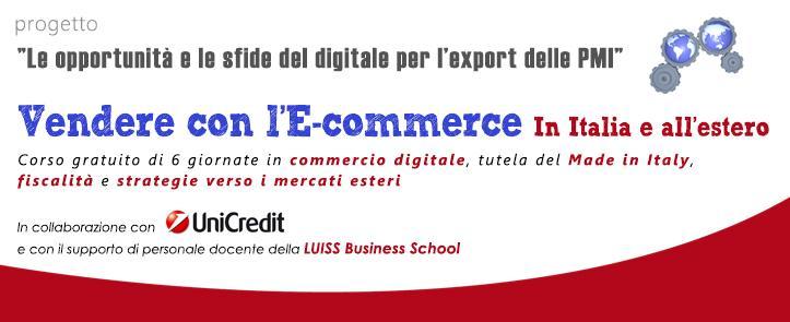 """Vendere con l'e-commerce in Italia e all'estero – progetto """"Le opportunità e le sfide del digitale per l'export delle PMI"""" – EXP01.17"""
