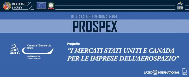 Catalogo Prospex: I mercati Stati Uniti e Canada per le imprese dell'Aerospazio