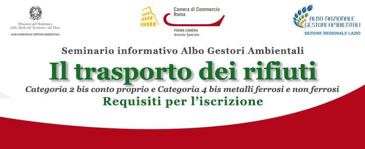 Il trasporto dei rifiuti in conto proprio: Categoria 2 bis – Categoria 4bis metalli ferrosi e non ferrosi – Requisiti per l'iscrizione