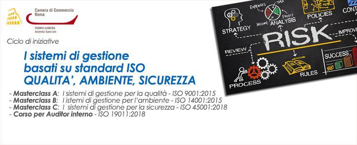 I sistemi di gestione basati su standard ISO – Qualità, Ambiente, Sicurezza