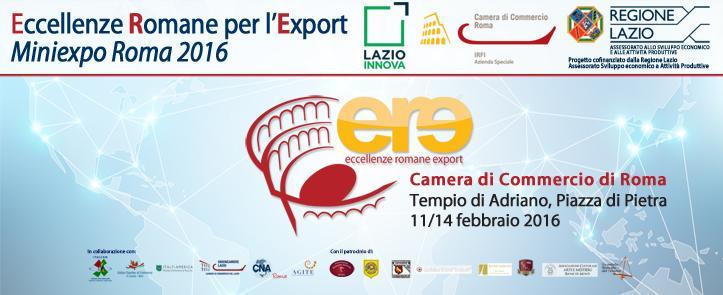 11-14 febbraio 2016 – ERE – Eccellenze Romane per l'Export – Miniexpo Roma 2016