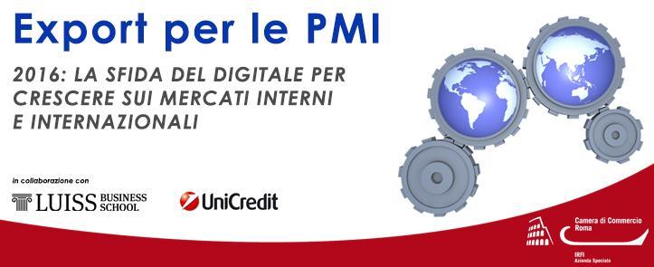 """5 Maggio 2016 – Presentazione del corso """"Export per le PMI: La sfida del digitale per crescere sui mercati interni ed internazionali"""""""