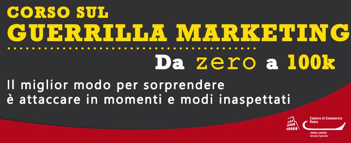 Corso sul Guerrilla Marketing – GM03.18