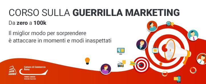 Corso sulla Guerrilla Marketing – da zero a 100k (GM04.19)