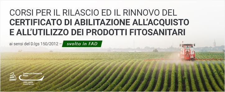 Protetto: Corsi per il rilascio ed il rinnovo del certificato di abilitazione all'acquisto e all'utilizzo dei prodotti fitosanitari ai sensi del D.lgs 150/2012 – FIT01.20